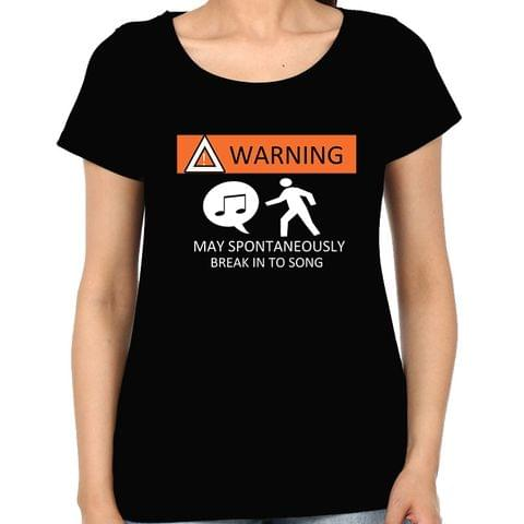 Warning Singer is here Woman Music t-shirt
