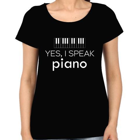 Speak Piano Woman Music t-shirt