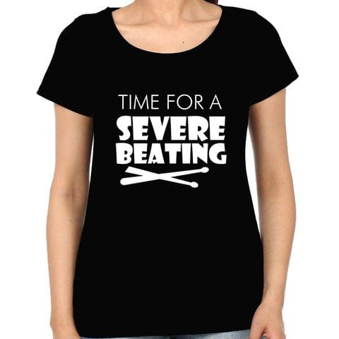 Drummer - Time for Sever Beating Woman Music t-shirt