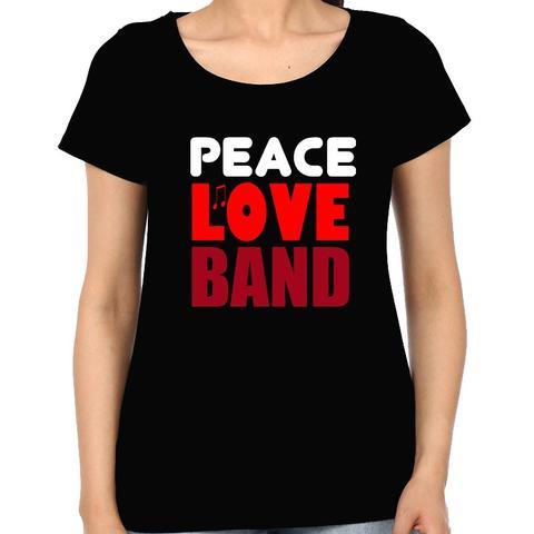 Peace Love Band Woman Music t-shirt