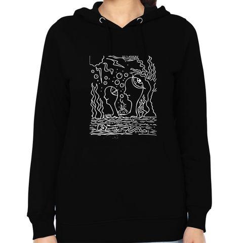 Ocean of Thoughts in Storm Trip psy Trippy Psychedelic  Woman Music Hoodie Sweatshirt
