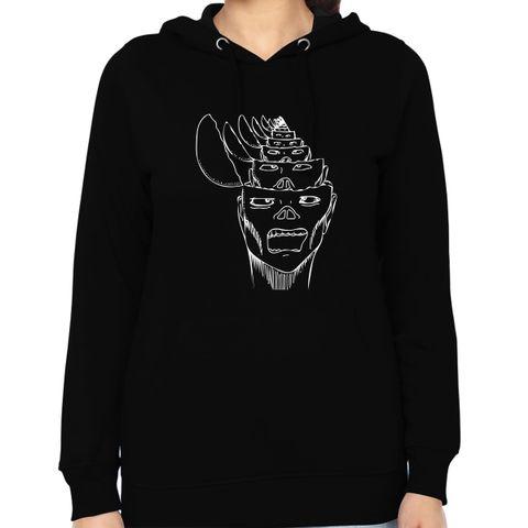 Opened my Head Nothing psy Trippy Psychedelic  Woman Music Hoodie Sweatshirt