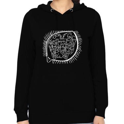 Acquaintance Recall  -  psy Trippy Psychedelic  Woman Music Hoodie Sweatshirt