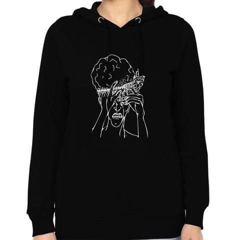 Mind fucked Hard psy Trippy Psychedelic Woman Music Hoodie Sweatshirt