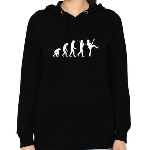 Evolution of Guitarist  Woman Music Hoodie Sweatshirt