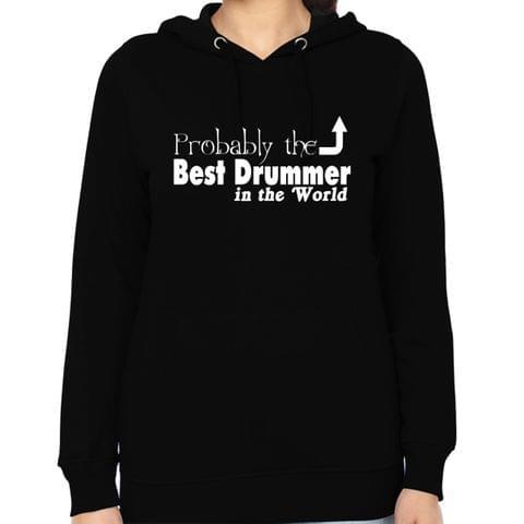 Best Drummer Woman Music Hoodie Sweatshirt