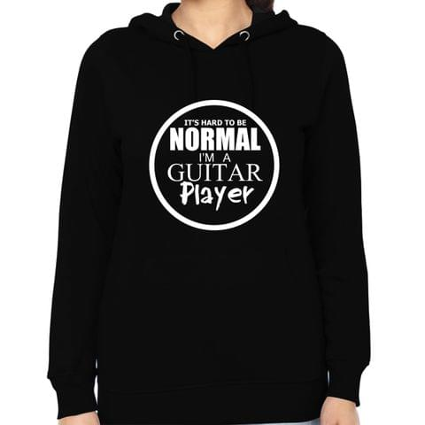Abnormal Guitarist Woman Music Hoodie Sweatshirt