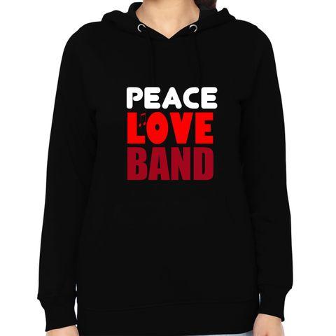 Peace Love Band Woman Music Hoodie Sweatshirt
