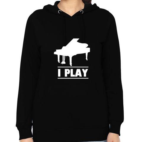 I play Piano Woman Music Hoodie Sweatshirt