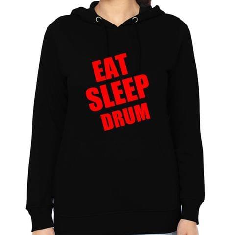 Eat Sleep Drum Woman Music Hoodie Sweatshirt