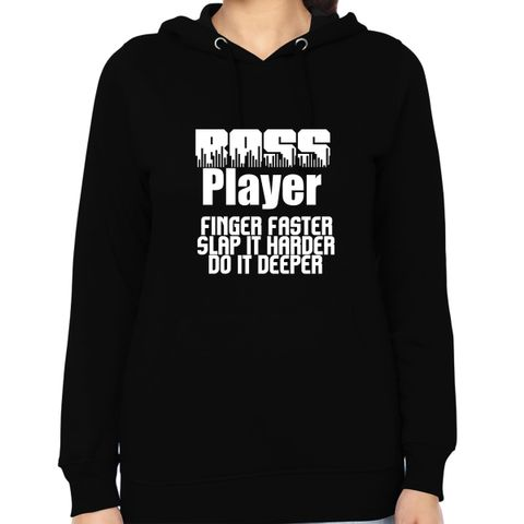 Bass player Woman Music Hoodie Sweatshirt