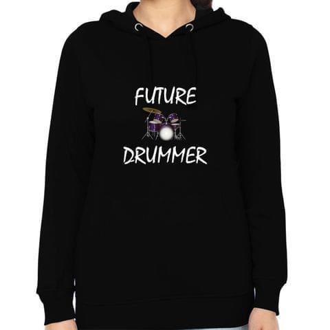 Future Drummer Woman Music Hoodie Sweatshirt