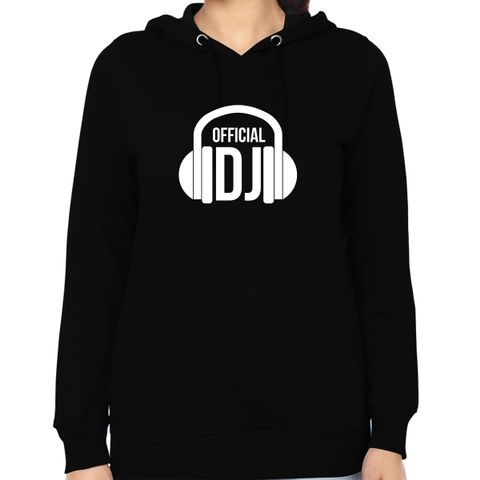 Official DJ Woman Music Hoodie Sweatshirt