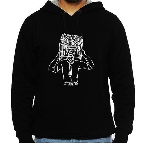 High in Office psy Trippy Psychedelic  Man Hooded Sweatshirt