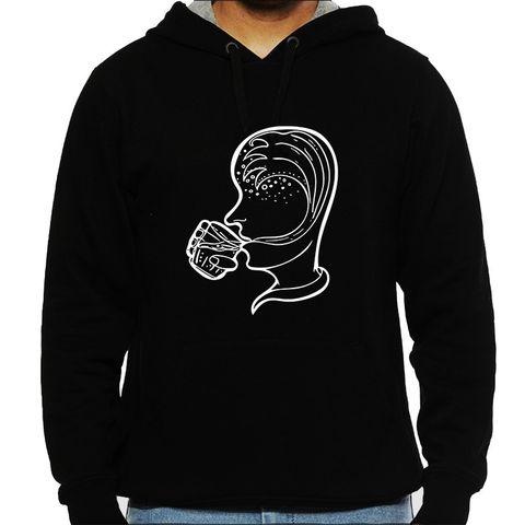 Mindwash psy Trippy Psychedelic Man Hooded Sweatshirt