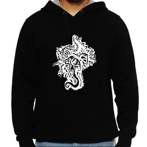 Psy Ganesha Tshirt  Man Hooded Sweatshirt