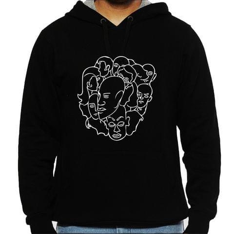 People people everywhere psy Trippy Psychedelic  Man Hooded Sweatshirt