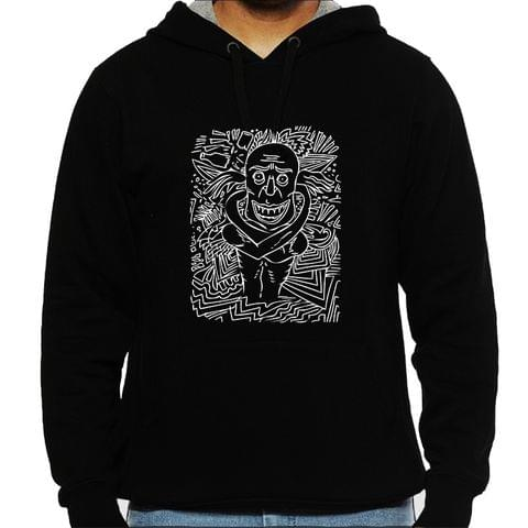 Deaf and Dead when High  psy Trippy Psychedelic  Man Hooded Sweatshirt