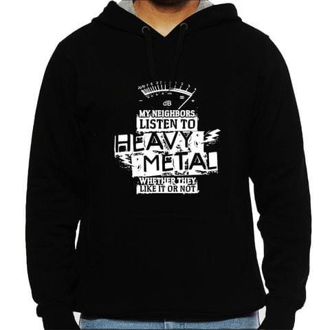 Heavy Metal Neighbors Mens Hooded Sweatshirt