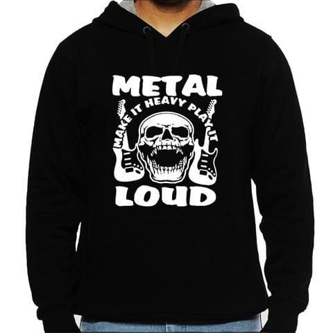Metal make it Heavy - Make it loud !! Mens Hooded Sweatshirt