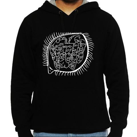 Acquaintance Recall  -  psy Trippy Psychedelic  Man Hooded Sweatshirt