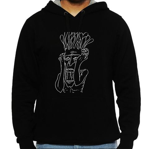 Shit in my Head psy Trippy Psychedelic  Man Hooded Sweatshirt