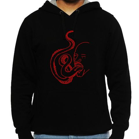 Spit The Filth psy Trippy Psychedelic  Man Hooded Sweatshirt