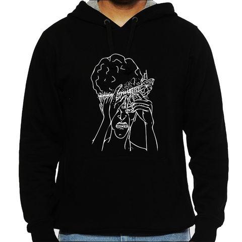 Mind fucked Hard psy Trippy Psychedelic Man Hooded Sweatshirt