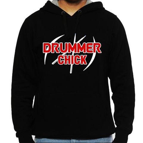 Drummer Chick  Man Hooded Sweatshirt