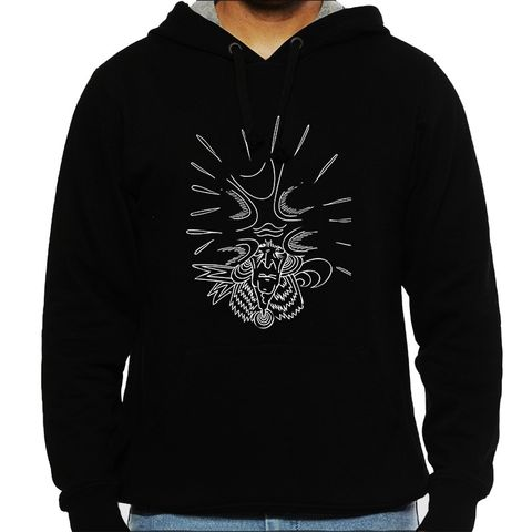 Pain of Universe on the head psy Trippy Psychedelic Man Hooded Sweatshirt
