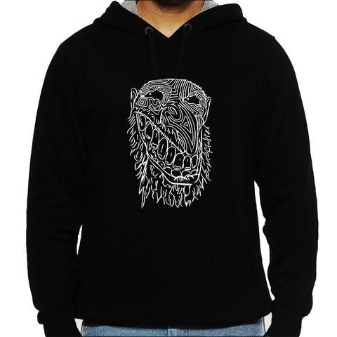 Filthy Evil psy Trippy Psychedelic Man Hooded Sweatshirt