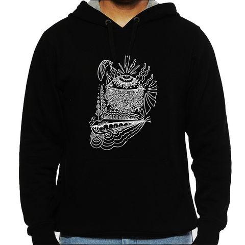 Third Eye psy Trippy Psychedelic Man Hooded Sweatshirt