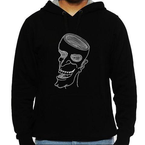 A happy Trip psy Trippy Psychedelic  Man Hooded Sweatshirt