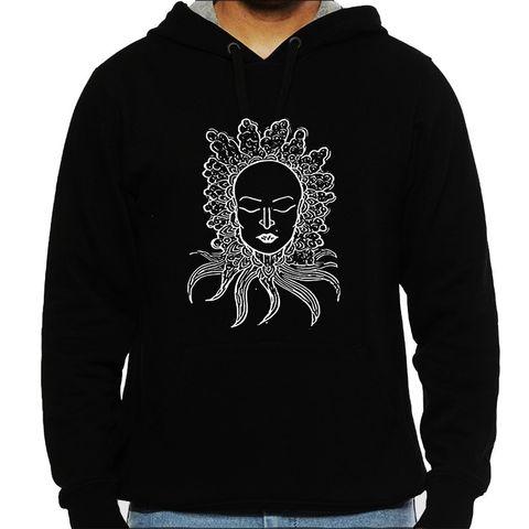 Peaceful Trip psy Trippy Psychedelic  Man Hooded Sweatshirt