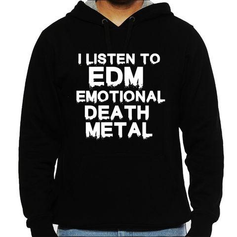 EDM - Emotional Death Metal Man Hooded Sweatshirt