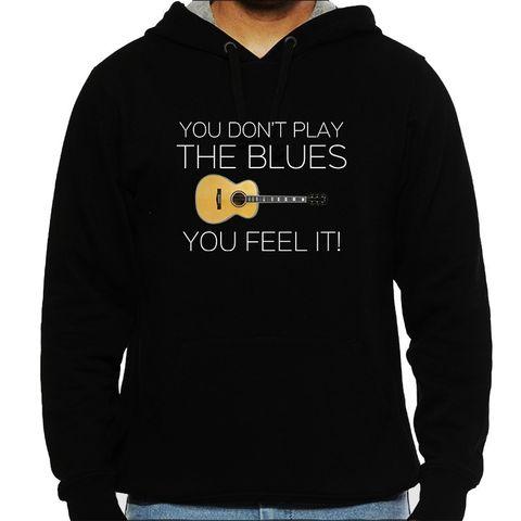 Feel the Blues Man Hooded Sweatshirt