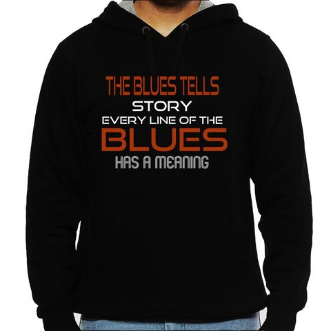 Blues tells a Story Man Hooded Sweatshirt