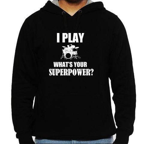 Drummer Superpower Man Hooded Sweatshirt