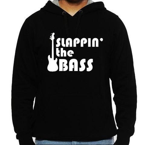 Slapping the Bass - Bassist Man Hooded Sweatshirt