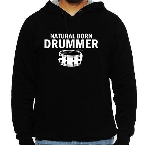 Born as Drummer Man Hooded Sweatshirt