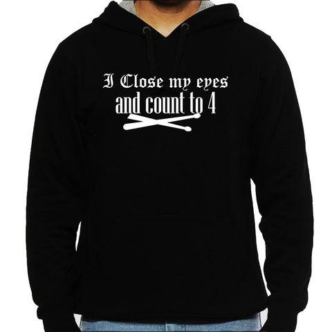 Count to 4 - Drummer Man Hooded Sweatshirt