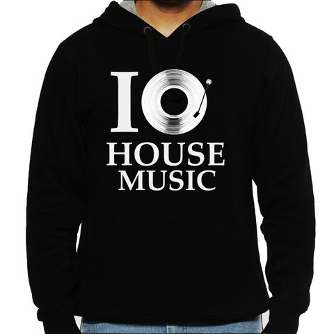 Love for House Music Man Hooded Sweatshirt