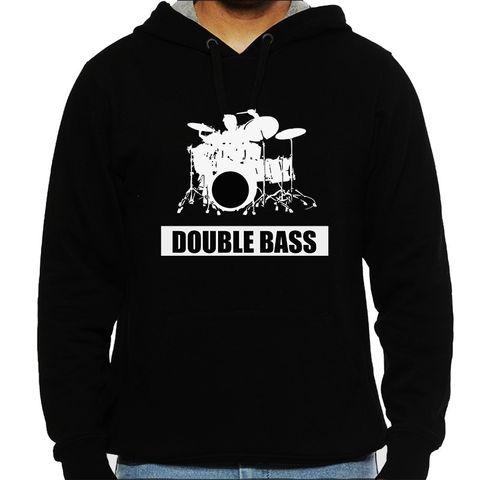 Double Bass Drummer Man Hooded Sweatshirt