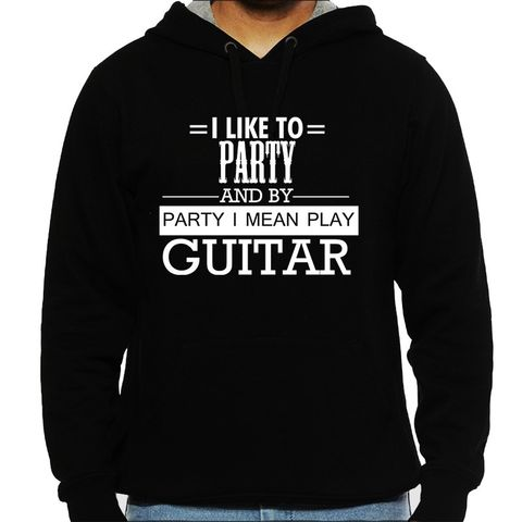 Party by Guitar Man Hooded Sweatshirt