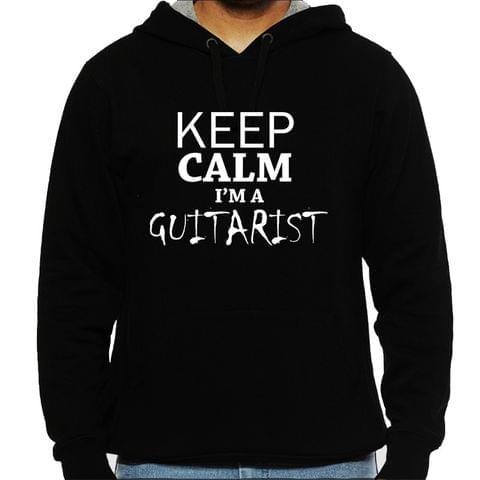 Keep calm I am Guitarist  Man Hooded Sweatshirt