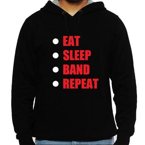 Eat Sleep Band Repeat Man Hooded Sweatshirt