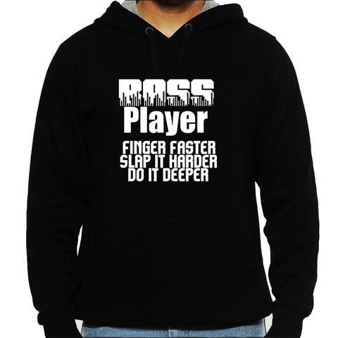Bass player Man Hooded Sweatshirt