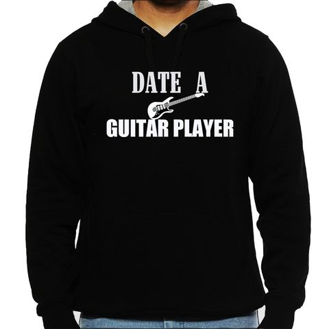 Date a Guitarist Man Hooded Sweatshirt