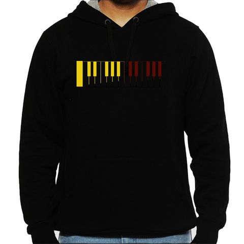 Piano Trips Man Hooded Sweatshirt