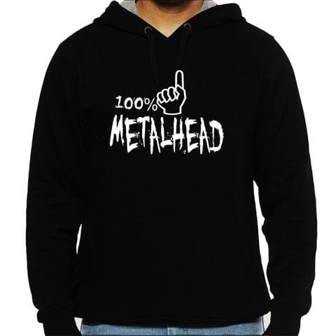 100% Metalhead Man Hooded Sweatshirt